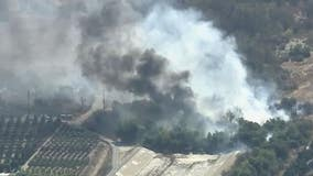Crews knock down Walnut Fire burning near Rosemead golf course