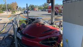 Driver dies after McLaren crashes into pole in Laguna Hills