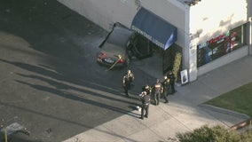 1 person in critical condition after car crashes into building in Pasadena