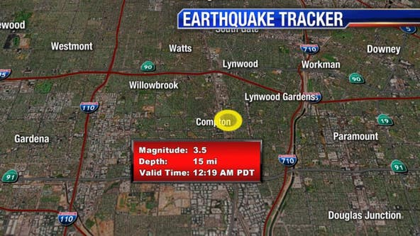 3.5-magnitude earthquake centered in Compton rattles SoCal