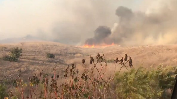 Fire crews make progress on fast-moving brush fire in Santa Barbara County