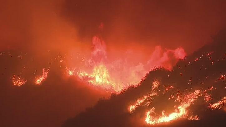 Saddleridge fire erupts in Sylmar impacting 210 Freeway as evacuations are underway - FOX 11 Los Angeles