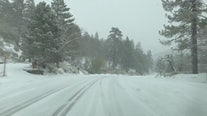 Storm dumps inches of snow in Wrightwood
