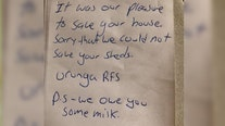 'P.S. We owe you some milk': Australian firefighters leave note after saving home