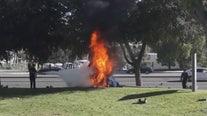 Young girl killed in fiery single-vehicle crash near Stevenson Ranch