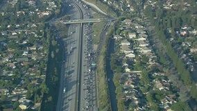 Big rig crash snarls traffic on 210 Freeway in Claremont