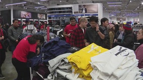 Many people skipped the turkey and hit shopping malls in search of great deals