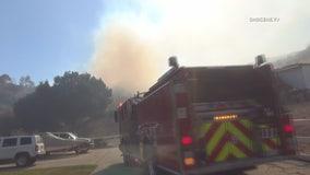 Firefighters stop forward progress of 'Jake Fire' in Santa Clarita at 9 acres