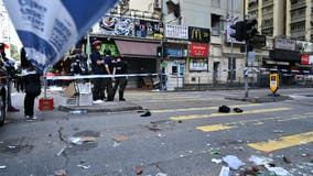 Online video shows Hong Kong protester apparently shot by police