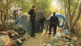 Third homeless encampment cleanup starts in Sepulveda Basin