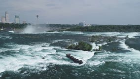 Severe weather dislodges 101-year-old boat trapped above Niagara Falls