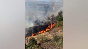 Firefighters stop forward progress of 'Jake Fire' in Santa Clarita at 9 acres