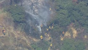 Godbey Fire sparks in La Cañada Flintridge; structures threatened
