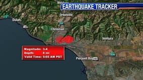 Pair of small quakes centered in Ventura strike minutes apart