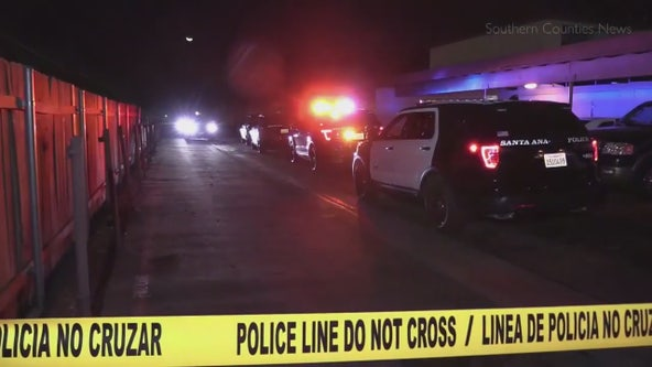 Armed suspect at large after fatally shooting 20-year-old in Santa Ana, stealing victim's car