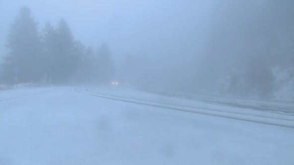 Winter storm brings snow to SoCal mountains