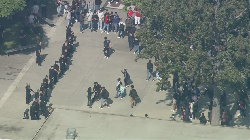 Fights on campus prompt massive LAPD response, cause high school lockdown