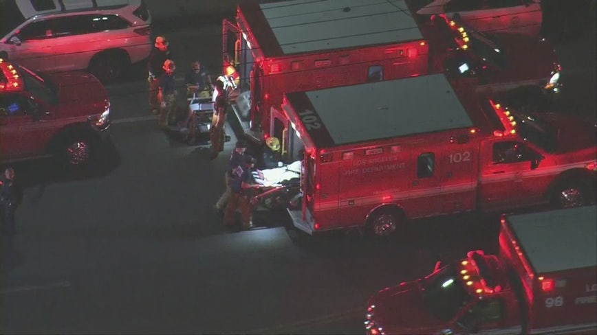2 LAPD officers taken to hospital following hazmat situation in North Hollywood