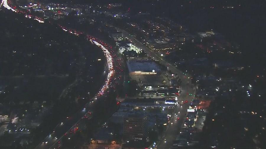 Woman killed on 101 Freeway in Woodland Hills