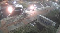 Suspect arrested after lighting Hawthorne police car on fire