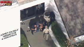 Suspect taken into custody in front of medical building after leading officers on chase
