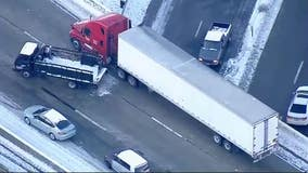 Icy conditions, fatality on 14 Freeway causing major traffic backup