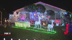 Holiday Lights in Granada Hills