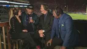 Danny Trejo shares game score prediction on FOX11 Sports Wrap