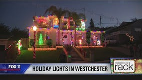 Holiday Lights on West 78th Street in Westchester