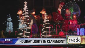 Holiday Lights DIsplay in Claremont