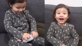 Little girl's pure reaction to opening 'worst Christmas gift' goes viral