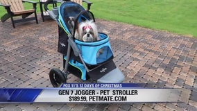12 Days of Christmas Giveaway: Pet Stroller, Pet Food Container, Twist-in-Treats, Massage Chair