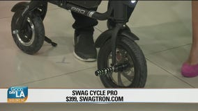 12 Days of Christmas Giveaway: Swagtron 4 in 1 scooter, electric skateboard, electric kick start scooter, Swag cycle pro