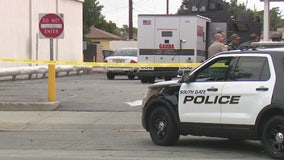 Police break up South Gate armored truck robbery as it happens
