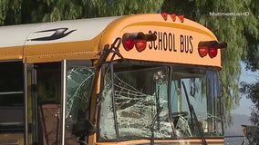 8 injured following collision involving school bus in Lake Elsinore
