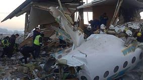 12 killed, dozens hurt after jetliner crashes in Kazakhstan