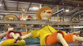 Behind the scenes: A look into the yearlong process of making Rose Parade floats