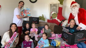 The Hood Santa hits Long Beach with early gifts