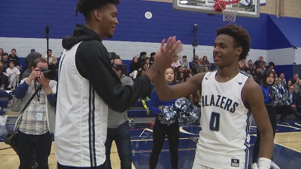 Sons of basketball superstars bring a sold-out crowd to Sierra Canyon High School