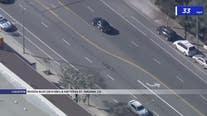 Suspect in custody following police pursuit in San Fernando Valley