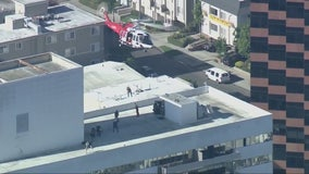 Authorities continue to investigate 'suspicious' fire at West L.A. high-rise
