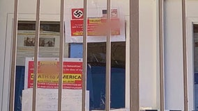 Posters containing racial slurs, swastika, 'Death to America' found taped to Calabasas condo