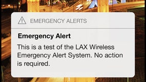 LAX to test emergency mobile alert system at 10 a.m. Wednesday