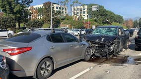 Six people injured during nine-car collision in Mission Viejo