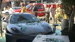Ferrari crashes into one of Lisa Vanderpump's West Hollywood restaurants