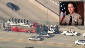 Law enforcement agencies pay respect to fallen L.A. detective during processional