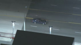 Pursuit suspect ditches car, runs into Commerce Casino