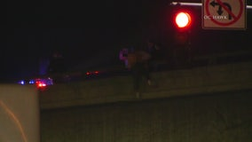 Group of good Samaritans save man from jumping off Riverside overpass