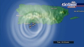 Second 6.0+ magnitude quake strikes Puerto Rico amid heavy seismic activity Tuesday morning