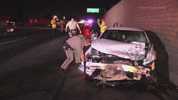 Man killed in multi-vehicle crash on 91 Freeway in Long Beach